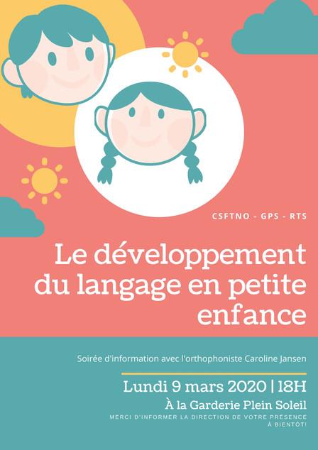 Le développement du langage en petite enfance