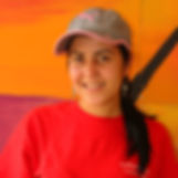 Female La Flor employees with hat