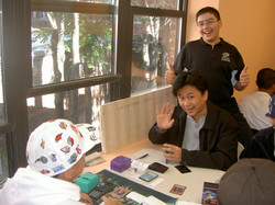 Store regulars playing a game: 2008