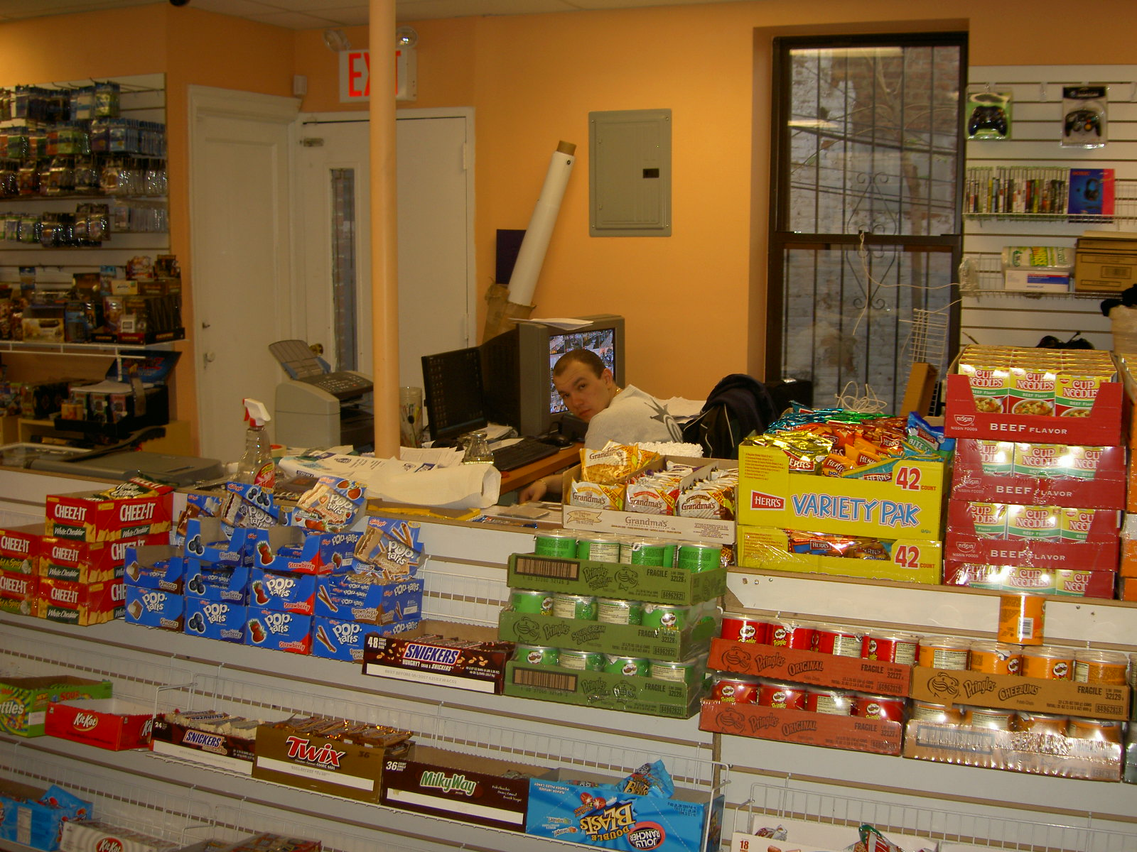 Zack lurks behind the snacks: 2008