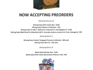 Pokemon In-Store Preorders