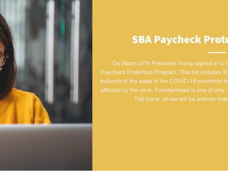 SBA 7(a) Paycheck Protection Program Loan