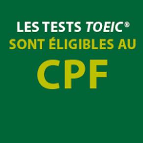 TOEIC Test seul : Code CPF 131 204