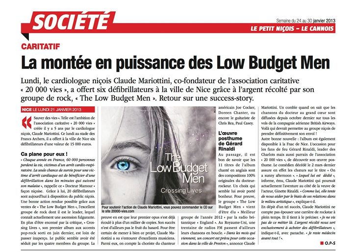 Article sur les _ Low Budget Men _