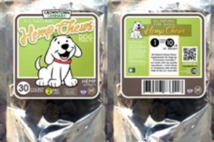 CROWNTOWN CANNABIS PET HEMP CHEWS | 2MG | 30 COUNT