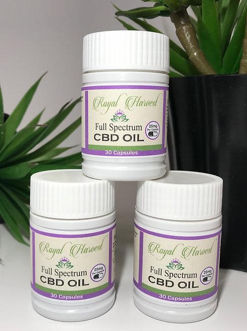 750 mg Full Spectrum CBD Oil Capsules