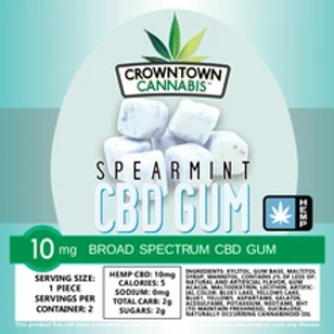 CROWNTOWN CANNABIS CHEWING GUM | 200MG | SPEARMINT