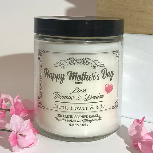 Personalized Mother's Day Candle 8oz