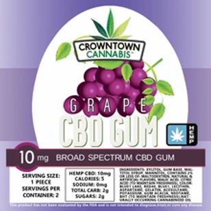 CROWNTOWN CANNABIS CHEWING GUM   GRAPE