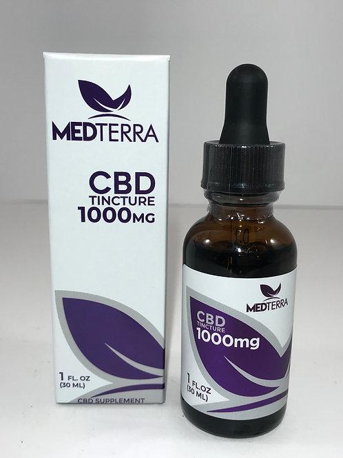 Medterra 1000mg CBD Oil Broad Spectrum/No THC