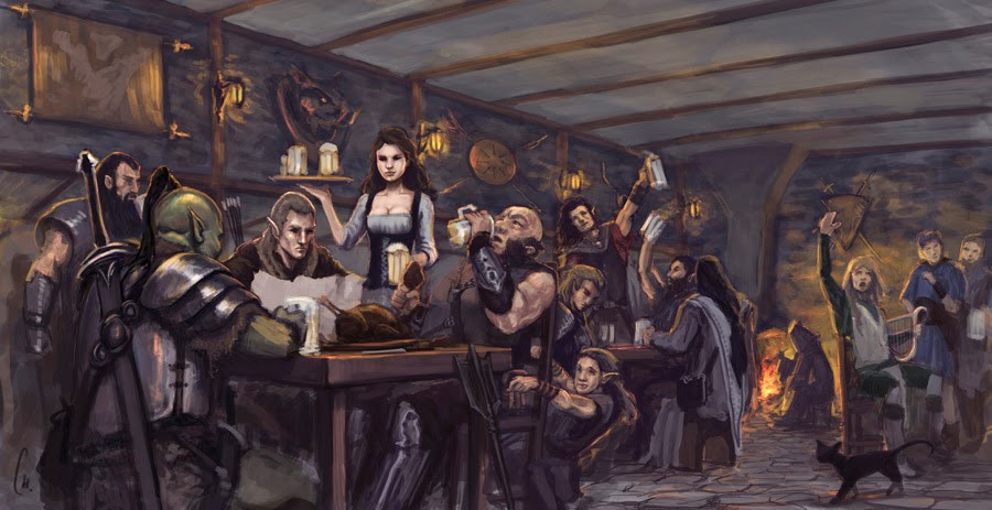 Socially Gaming Dungeons and Dragons Drinking Game