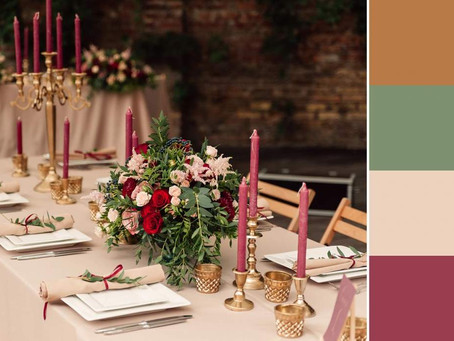 10 Interesting Color Schemes for Your Big Day
