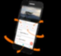 tangery app interface