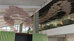 ceiling sculptures.