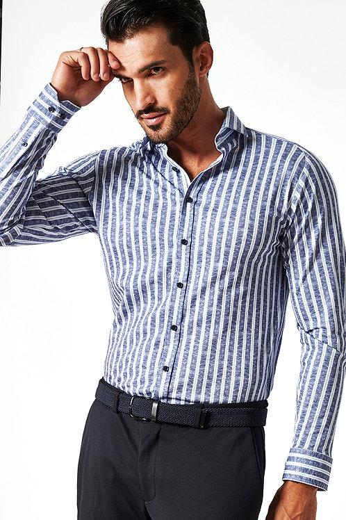 Desoto blouse blauwe streep 41007-3-539
