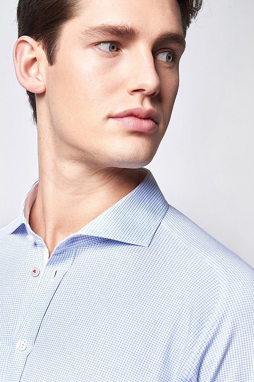 Desoto blouse Vichy ruit 21308-3-58