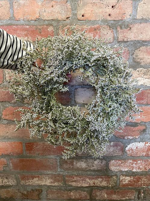 Limonium dried wreath