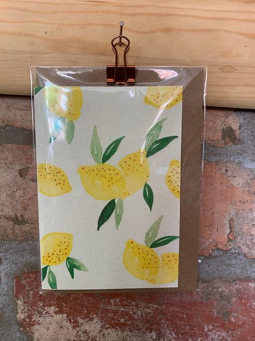 Lemon blank card