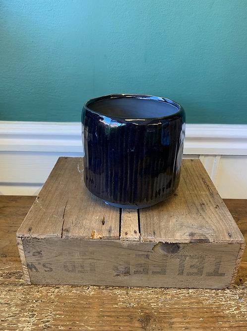 Dark ceramic pot