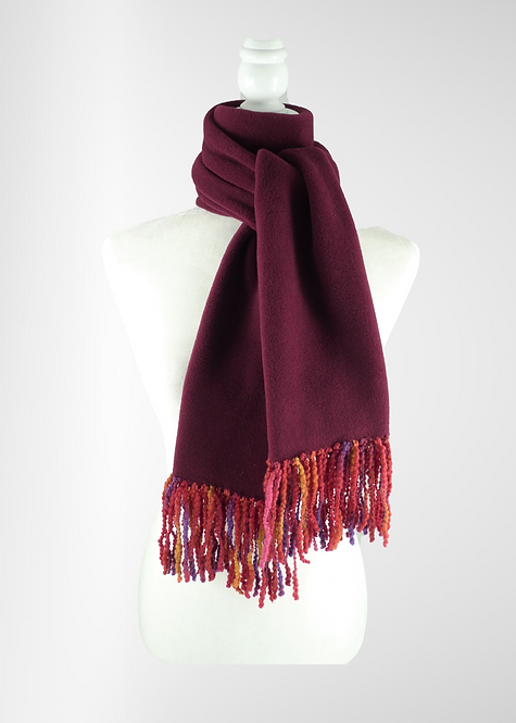 Bordeaux Fringed Scarf