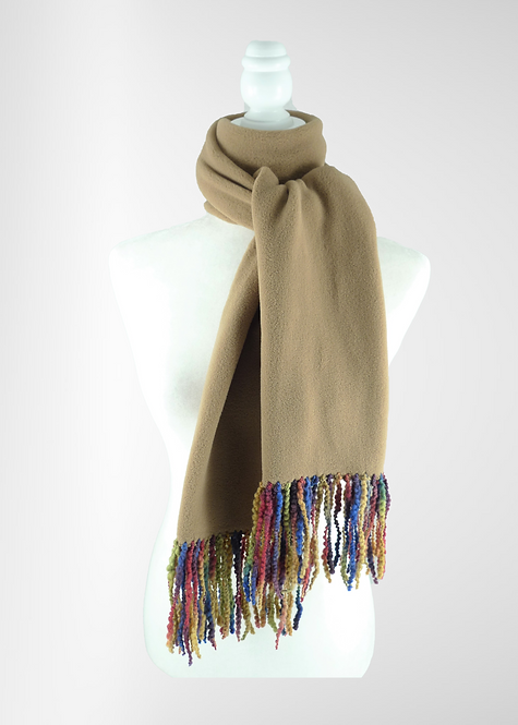 Cappuccino Fringed Scarf