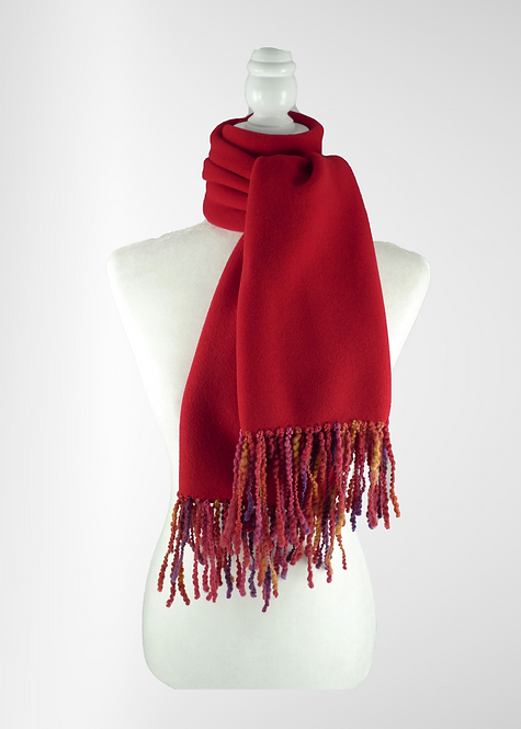Cherry Fringed Scarf