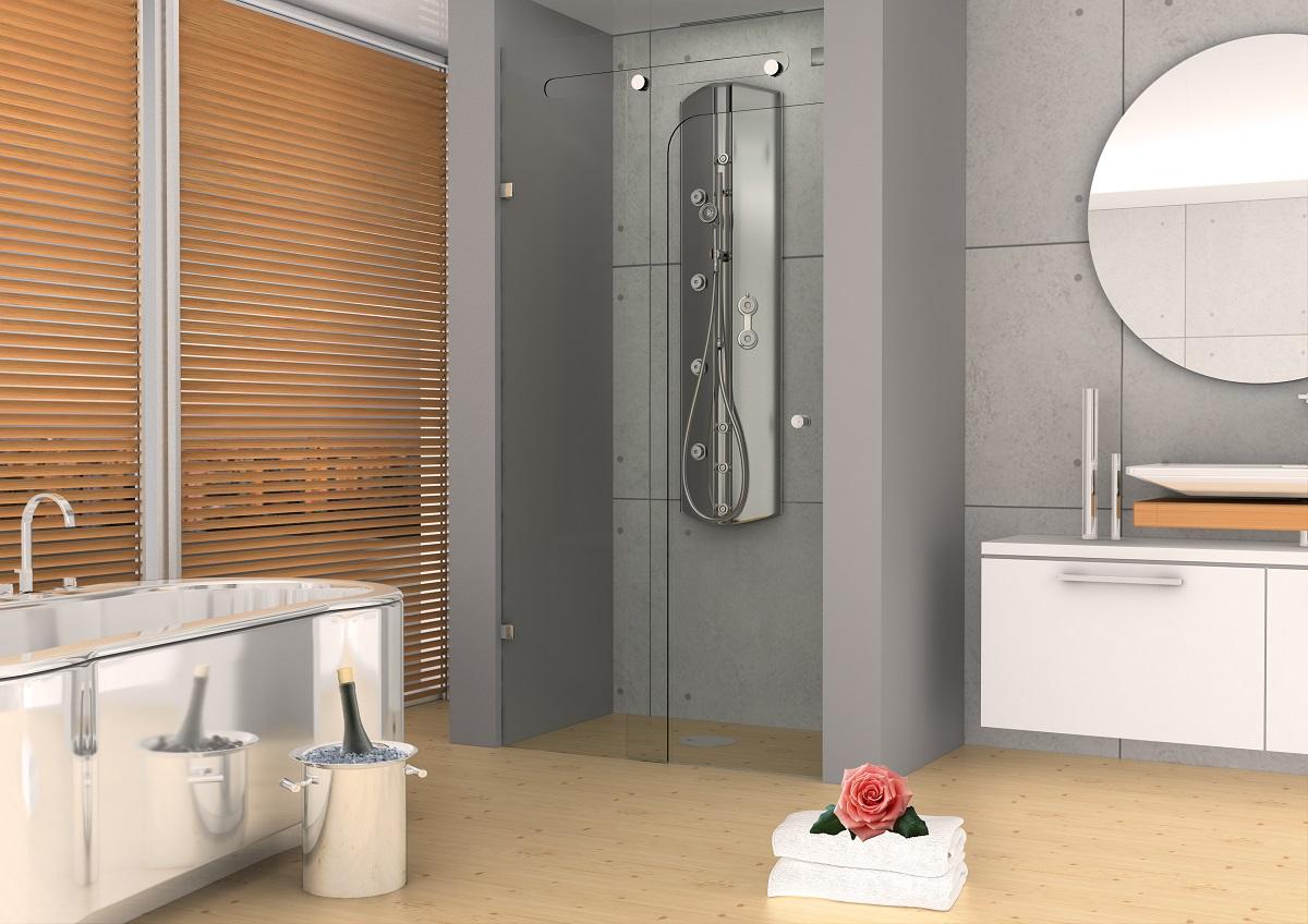 """מקלחון מזכוכית 8 מ""""מ"""