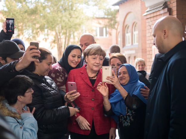 Bundeskanzlerin Angela Merkel besucht den Paul-Gerhardt-Stift in Berlin, Wedding