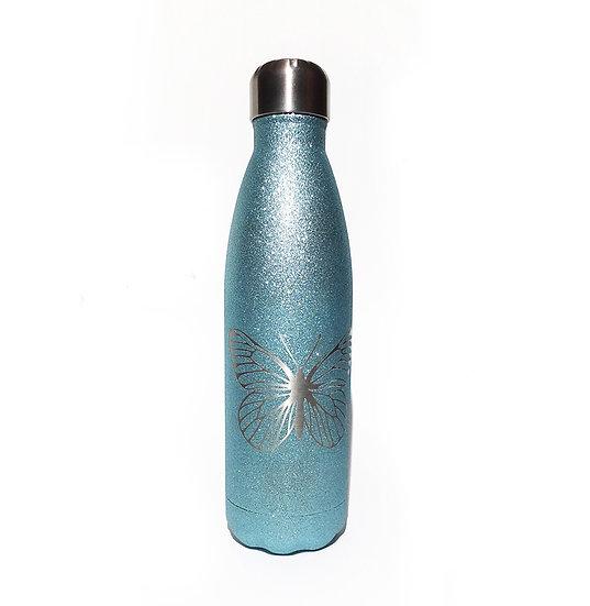 Glanz-Schmetterling Trinkflasche