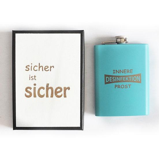 Flachmann Desinfektion