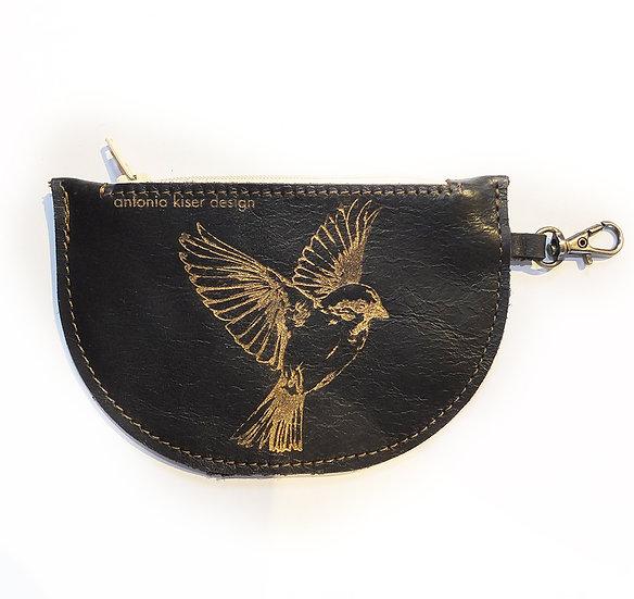 Portemonnaie goldener Vogel