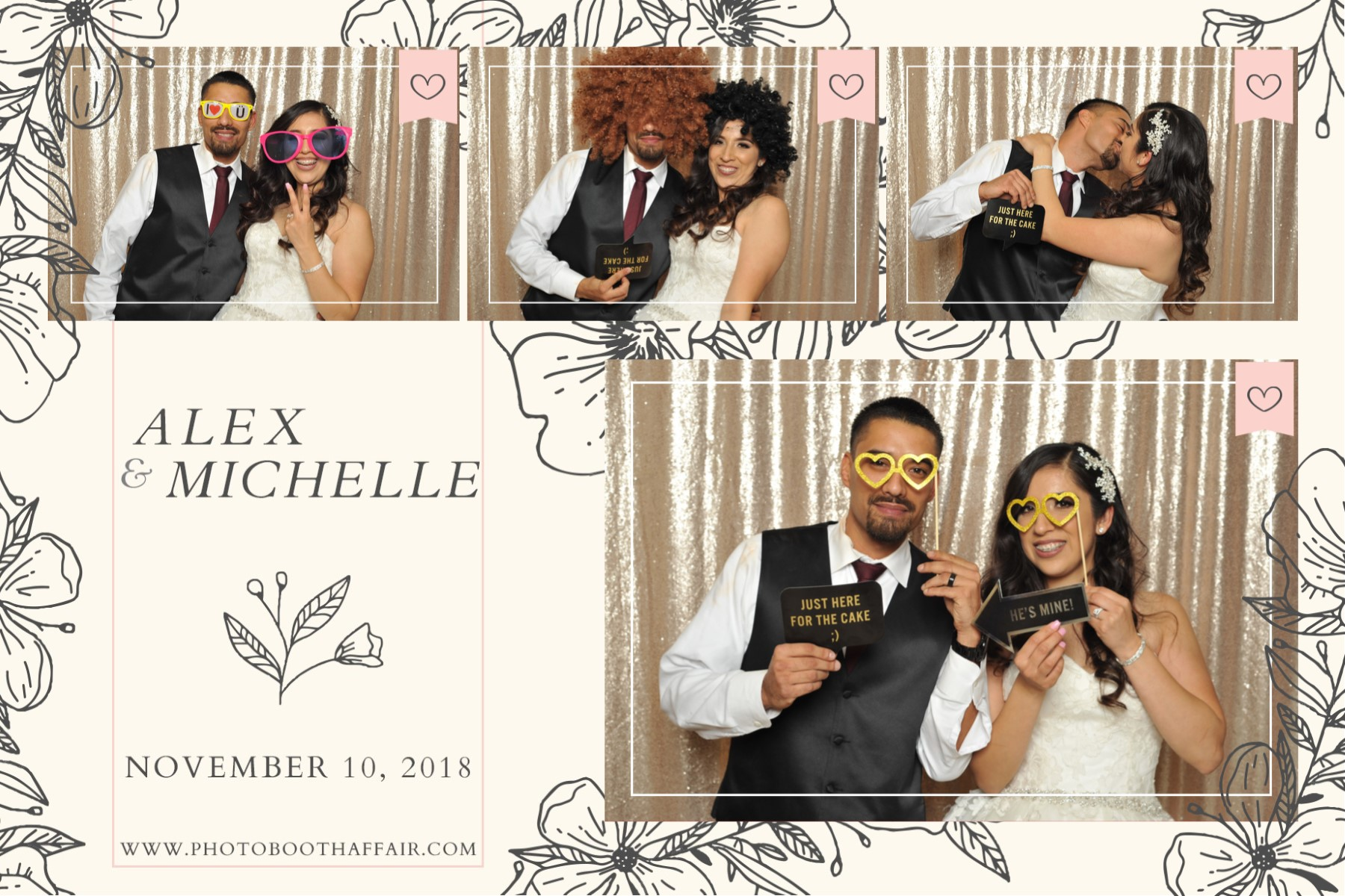 Alex + Michelle - Prints - Photo Booth A
