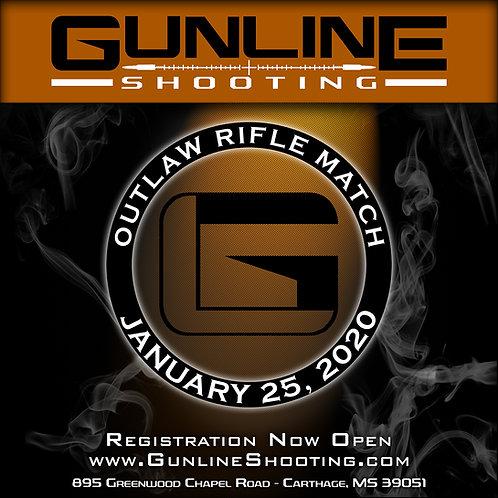 Gunline Shooting Outlaw Rifle Match 1/25/20