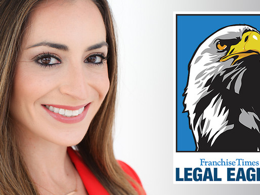 Attorney Morgan Geller is one of this year's 2020 Legal Eagles by Franchise Times Magazine