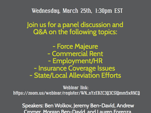 AXS LAW GROUP WEBINAR: COVID-19 LEGAL ISSUES AND CONCERNS