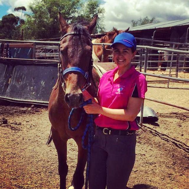 Alyssa training 'Emmaville Merlin'
