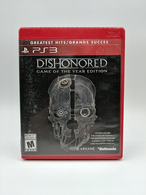 Dishonored Game of the Year – PS3