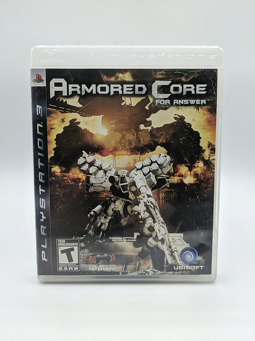 Armored Core - For Answer – PS3