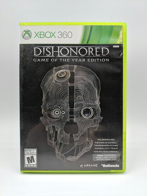 Dishonored Game of the Year – 360