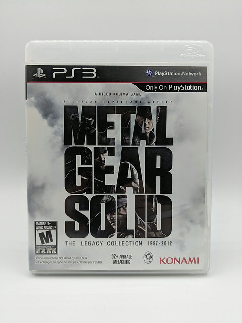Metal Gear Solid Legacy Collection – PS3