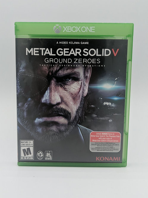 Metal Gear Solid V : Ground Zeroes - XB1