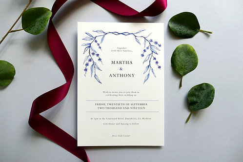 No. 4 Wedding Invitation
