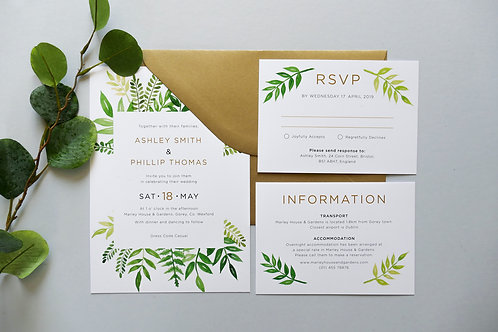 No.2 Wedding Invitation Set