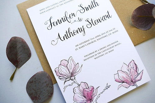 No.3 Pink Wedding Invitation