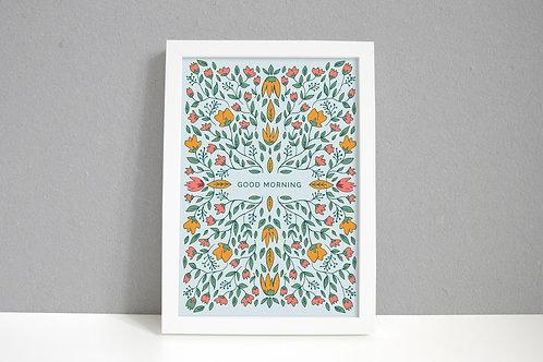 Good Morning Flower Art Print