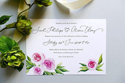 No.6 Wedding Invitation