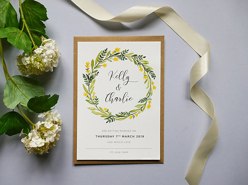 No.1 Wedding Invitation