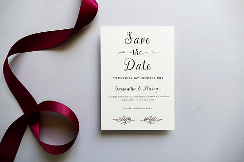 No.5 Save the Date
