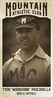 """Baseball Card Todd """"Moonshine"""" Pascarell"""