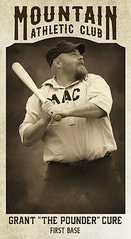 "Baseball Card Grant ""The Pounder"" Cure.j"